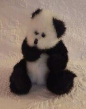"""1993 Ty Attic Treasure White Panda Bear Plush 6"""" Tall"""