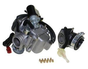 Tuning Vergaser 24mm+Choke+Hauptdüsen+Ansaugstutzen+Filter f. Honda CH 125 Spacy