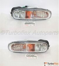 Toyota Supra 1997-1998 Front Bumper Clear Turn Signal Lamp Set Genuine