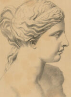 Early 20th Century Charcoal Drawing - Portrait of a Bust
