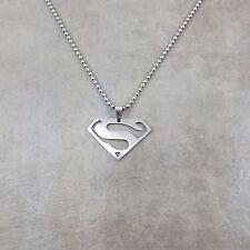 Superman DC Silver Pendant Necklace Gift Box Superhero Symbol Unisex Mens Chain