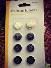 button cell batteries cr2032  cr2016 cr2025 6 pack free postage