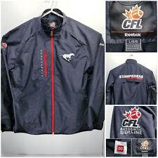 Reebok Calgary Stampeders Mens Large Authentic Sideline Jacket CFL