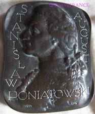 MED9973 - GROSSE MEDAILLE STANISLAW PONIATOWSKI N° 3/200 par MULDNER-NIECKOWSKI