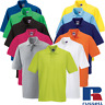 Russell MEN'S PIQUE POLO SHIRT COTTON SHORT SLEEVE SPORTS GOLF WORKWEAR XS-4XL