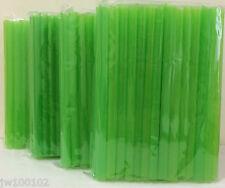 "Jumbo Bubble Boba Tea Smoothies  Straws 1/2""Wide 8 1/2""Long 4X50-54Pc Neon Green"