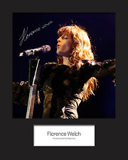 FLORENCE AND THE MACHINE #1 10x8 SIGNED Mounted Photo Print - FREE DELIVERY