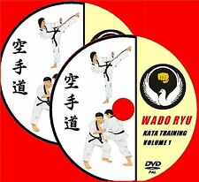 WADO RYU KARATE TRAINING GUIDE STEP BY STEP KATA's TUTORIALS TWIN VIDEO DVD SET