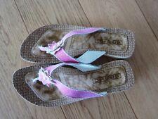 Tolle Damen Zehen Sandalen Gr. 41 rosa mit Blume Top wie Neu