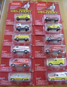 JOHNNY LIGHTNING Coca-Cola Coke Delivery Vehicles Set of 12 Ford Dodge Chevy