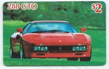 USA Checkered Flag - Calling Card 2 $ F1 / Ferrari 288 GTO NEU ** MINT
