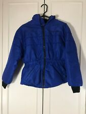 Youth Polaris Snowmobile Jacket Blue Cinched Waist Size 14 Union Made in USA