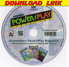 COMMODORE POWER PLAY MAGAZINE Full Run DOWNLOAD (PET/MS-DOS/VIC20/C64/128 Games)