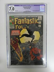 Fantastic Four #52 1st appearance of Black Panther CGC 7.0 Restored OWW pages