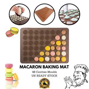 48 Cavities Non Stick Macaroon Tray Non-stick Silicone Macaron Cake Baking Mat