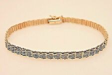 "Women's 7.125"" 14K Yellow Gold 4.95 MM Bright Polished Solid Mesh Link Bracelet"