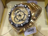 24266 Invicta Men's 52mm Excursion Quartz Chronograph Gold-Plated Bracelet Watch