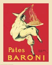 Pates Baroni Italian Pasta Ad Art Leonetto Cappiello Vintage-Style 24x30 Poster