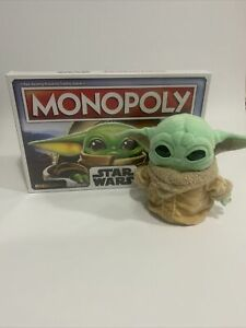 STAR WARS Monopoly The Mandalorian With Bonus Stuffed Baby Yoda Combo!