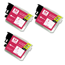 3 MAGENTA Ink Cartridge Compatible for Brother LC61 MFC J220 J265W J270W