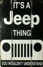 Jeep Garage Rustic Look Vintage Tin Signs Man Cave, Shed Bar Sign