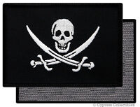 PIRATE FLAG PATCH JOLLY ROGER Skull Swords Calico Jack w/ VELCRO® Brand Fastener