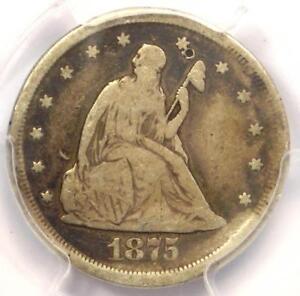 1875-CC Twenty Cent Piece 20C - PCGS VG Details - Rare Carson City Coin!