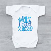 My 1st First Easter 2020 Easter Bunny Boys Baby Grow Bodysuit Baby vest