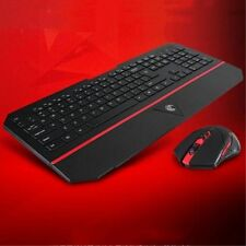 Wireless Keyboard and Mouse Combo 2.4ghz LED Ergonomic USB Optical Backlight