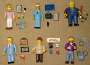 Simpsons Playmates All-Star Voices Series 1-2-3 Action Figure Complete Set of 6