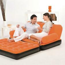Queen Inflatable Air Couch Pull Out Bed w/ AC Air Pump Mattress Blow Up Sofa