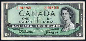 CANADA PAPER BANKNOTE  $1 DOLLAR CIRCULATED CONDITION