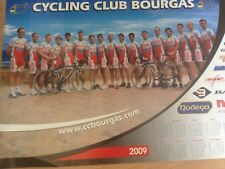 Cyclisme, ciclismo, radsport, wielrennen, POSTER EQUIPE BOURGAS 2009