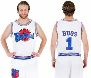 Space Jam Tune Squad Logo Bugs Bunny #1 White Basketball Jersey
