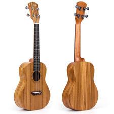 Kmise Tenor Ukulele Hawaii Guitar Musical Instruments Zebrawood 26 Inch W/Bag