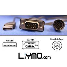 Lilliput VGA-DIN +USB Touch (Female) Cable for FA1011/ 619A/ 669/ 869/ Monitors