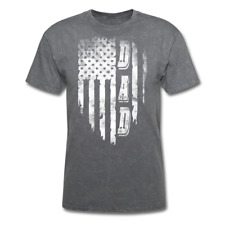 Distressed American Flag DAD fathers day Men's T-Shirt