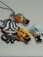 4pc Bleach rangiku figure keychain charm strap anime kawaii Japan lot