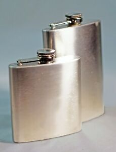 Stainless Steel FLASKS Coleman 8 oz Smaller 6 oz Unknow Brand Lot of 2