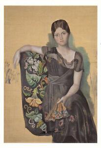 Postkarte: Pablo Picasso - Olga mit Fächer