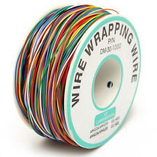 30AWG 0.25mm 280M Tin Plated Copper Wire Wrapping Insulation Test Cable 8-Color