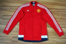 SIZE M MANCHESTER UNITED FOOTBALL TRACK TOP 2015-2016 ADIDAS RED JACKET RARE