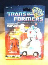 1987 HASBRO G1 TRANSFORMERS THROTTLEBOT SEARCHLIGHT BUBBLE CARD DECOY BUMBLEBEE