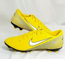 Nike Soccer Cleat Mens Size 9.5 Mercurial Vapor 12 Neymar Yellow Black White