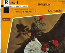 RAVEL BOLERO + LA VALSE BERNSTEIN + ORCHESTRE NEW YORK 25CM PORT A PRIX COUTANT