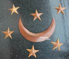 Celestial Recycled Iron Metal Star Moon Indoor Outdoor Patio Wall Country Decor