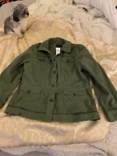 NWT Banana Republic green jacket , size Xl