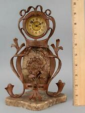 Small Antique Art Nouveau, Bronzed Spelter & Marble Clock, NO RESERVE!