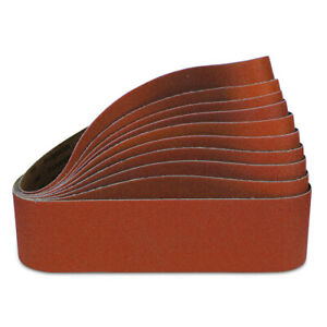 "4"" x 36"" Ceramic Metal Sanding Belts, 2 each: 36 40 60 80 & 120 Grit - 10 PACK"