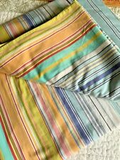 Pottery Barn Multi Color Stripe Cotton Full Queen Duvet Cover